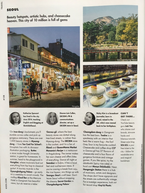 Wanderlist ASOS Magazine Siobhan Lawless Travel Feature Seoul