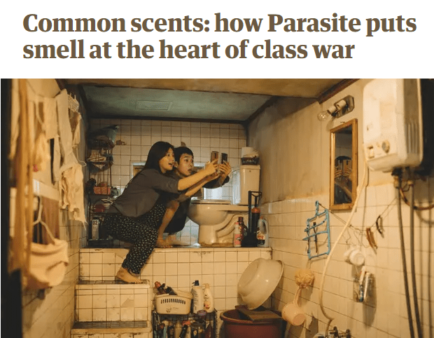 'Common Scents' Header Image - Guardian Parasite Film Feature Review